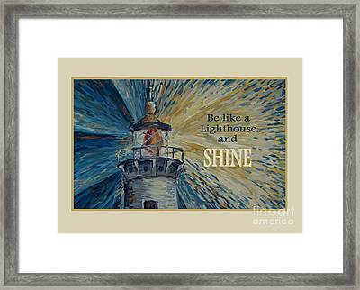 Framed Print featuring the painting Shine by Maria Langgle