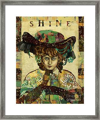 Shine - Norma Whalley Framed Print by Carrie Joy Byrnes