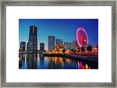 Framed Print featuring the photograph Shine On You Crazy Ferris Wheel by Peter Thoeny