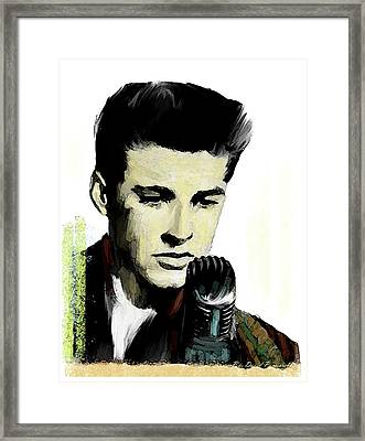 Framed Print featuring the painting Shine On Youth  Ricky Nelson by Iconic Images Art Gallery David Pucciarelli