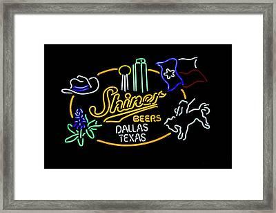 Shiner Beers Dallas Texas Framed Print