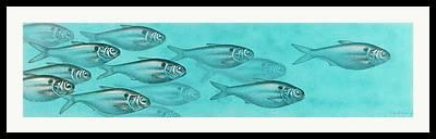 Baitfish Framed Prints