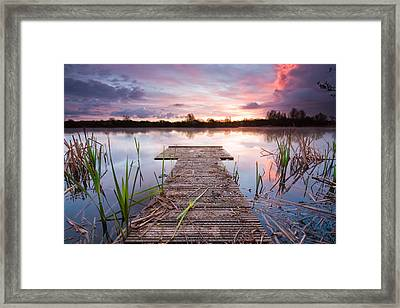 Shinewater Lake Sunrise Framed Print