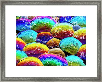 Framed Print featuring the photograph Shiney Bubbles by Jean Noren