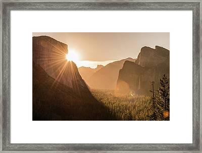 Shining El Cap Framed Print