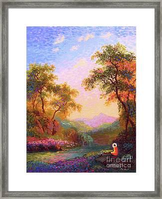 Shining Peace Buddha Meditation Framed Print