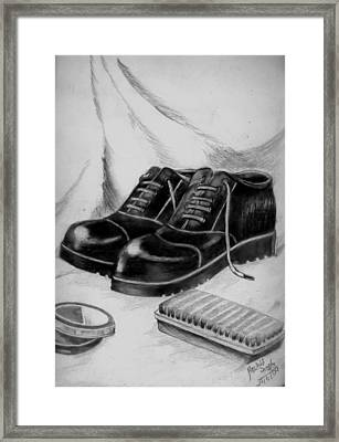 Shining Shoes Framed Print by Archit Singh