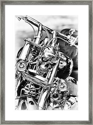 Shining Skull Framed Print by Tim Gainey