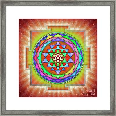 Shining Sri Yantra Mandala II Framed Print