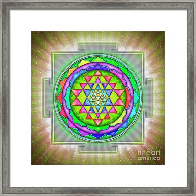 Shining Sri Yantra Mandala Iv Framed Print