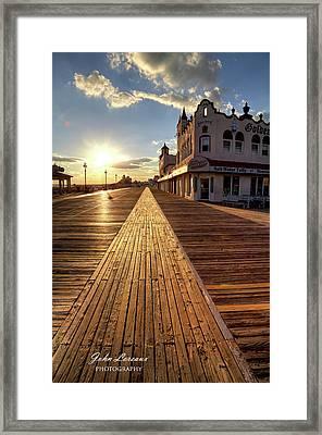 Shining Walkway Framed Print