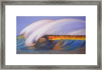 Shining Wave Framed Print by Chikako Hashimoto Lichnowsky
