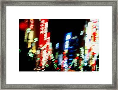 Shinjuku Abstraction Framed Print by Brad Rickerby