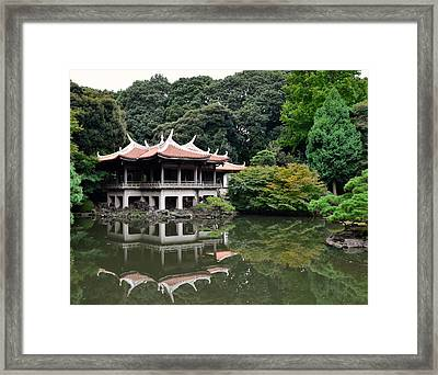 Shinjuku-gyoen Tea House Framed Print