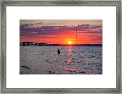 Shinnecock Fisherman At Sunset Framed Print