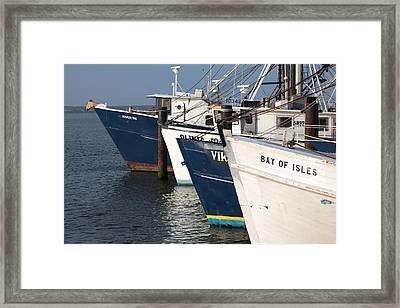 Shinnecock Fleet Framed Print