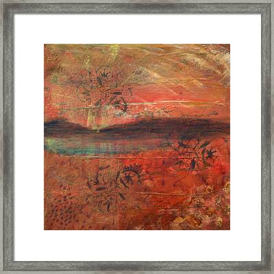 sHINto bEIngs Framed Print by Lisa McDonough