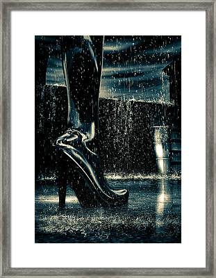 Shiny Boots Of Leather Framed Print