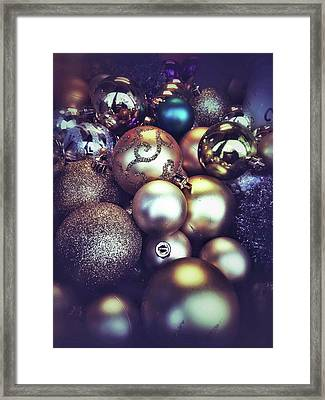 Shiny Christmas Baubles Framed Print by Tom Gowanlock