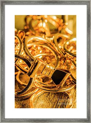 Shiny Gold Rings Framed Print by Jorgo Photography - Wall Art Gallery