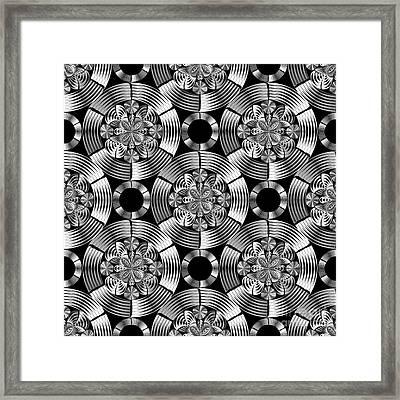 Shiny Metallic Damask Framed Print