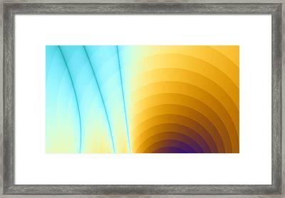 Shiny Rainbow Framed Print by Jhoy E Meade