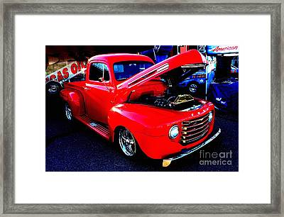 Shiny Red Ford Truck Framed Print