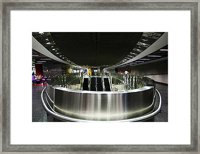 Shiny Singapore Stainless Steel Underground Station Framed Print by Jane McDougall