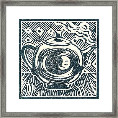 Shiny Teapot Framed Print by Jennifer Harper