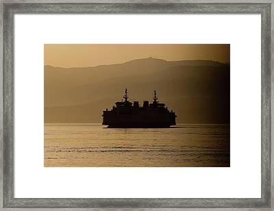 Framed Print featuring the digital art Ship by Bruno Spagnolo