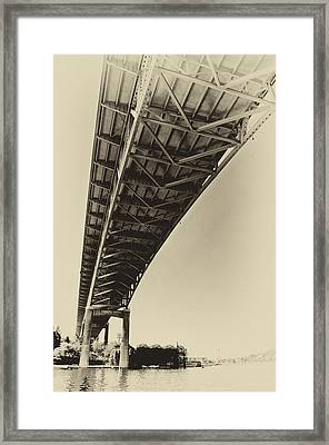 Ship Canal Bridge Old Yellow Framed Print by Pelo Blanco Photo