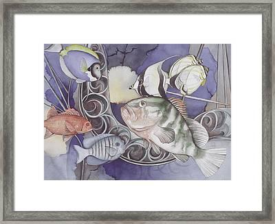 Ship Elements Framed Print by Liduine Bekman