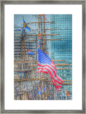 Ship In Baltimore Harbor Framed Print by Marianna Mills