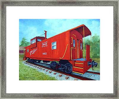 Ship It On The Frisco Framed Print