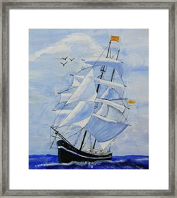 Ship It Framed Print