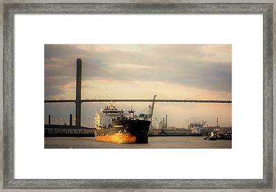 Ship To Shore Transport Framed Print