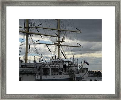 Framed Print featuring the pyrography Ship Masts by Yury Bashkin
