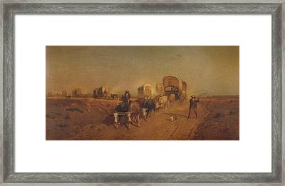 Ship Of The Plains Framed Print by Samuel Colman