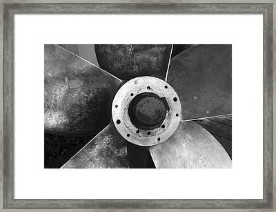 Ship Propeller  Framed Print