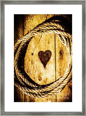 Ship Shape Heart Framed Print