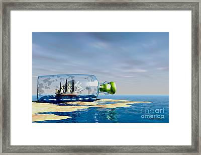 Ship To Shore Framed Print by Corey Ford