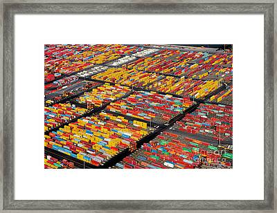 Shipping Container Yard Framed Print