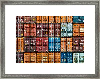 Shipping Containers Framed Print