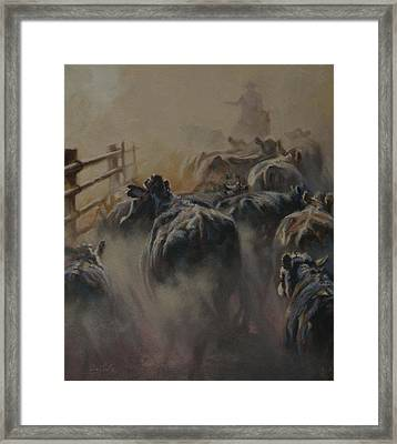 Shipping Dust Framed Print by Mia DeLode