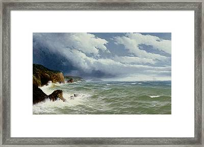 Shipping In Open Seas Framed Print