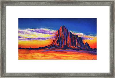 Shiprock Mountain Framed Print