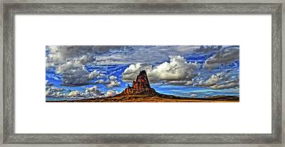 Framed Print featuring the photograph Shiprock Panorama by Scott Mahon