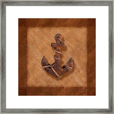 Ship's Anchor Framed Print by Tom Mc Nemar
