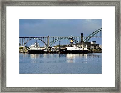 Ships Anchored In Newport Framed Print