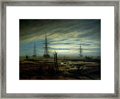 Ships At Anchor Framed Print